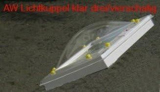 Lichtkuppel 1000x1000 klar durchsichtig dreischalig D/ämmung 1,9 W//m/²K