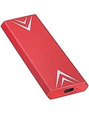 Externe harde schijf, draagbaar, 1 TB, 2 TB, externe harde schijf, USB 3.1/Type-C slim harde schijf, compatibel met PC, laptop en Mac (2 TB rood)