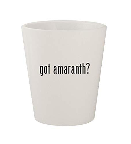 got amaranth? - Ceramic White 1.5oz Shot Glass