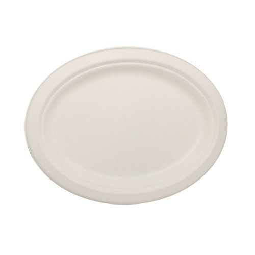 Durable-Eco-Friendly-10-x-8-Oval-Bagasse-Plates-Pack-of-White-Plates-Microwave-Safe-Compostable-Made-from-Sugercane-Fibers