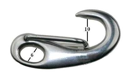 Prendere ganci in acciaio inox V4A 50 mm ARBO-INOX Stag Reiter
