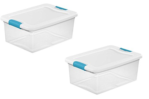 Best Seller Sterilite Latching Box | Latches to Secure Lid to the Base (15 Quart (2-Pack))