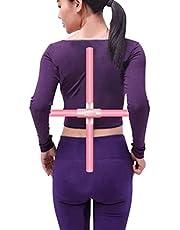 Yogapinnar, 2 stycken sport ryggkorrigering öppen axel kroppsformande stretchverktyg träpinnar för ungdomar och vuxna