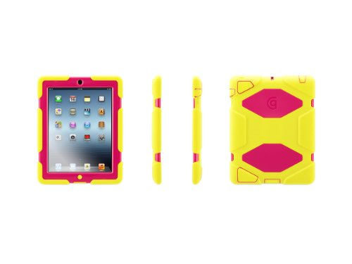 Griffin Citron/Pink Survivor All-Terrain Case + Stand for iPad 2, 3, and 4th Gen - Military-duty case with stand