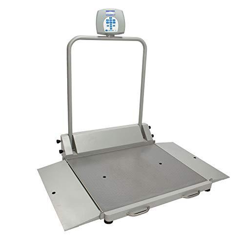 (Health O Meter Digital Wheelchair Dual Ramp Scale 1000 x 0.2lb/454 x 0.1kg, Portable, 2610KL, Lot of 1)