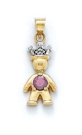 "14 carats-Rhodolite-rose et diamant brut Birthstone Prince-JewelryWeb 1 """