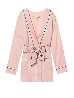 Victorias Secrets Satin Tie-Waist Jacket Pink Luxe Palm Size Xs/S
