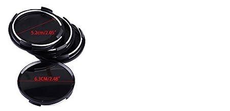 beler Les moyeux de centre de roue de v/éhicule de voiture de 4pcs de noir de 63mm aucun couvre-badge couvre lembl/ème