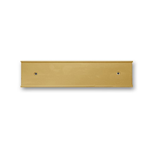 (Nameplate Holder - Wall or Door - Gold 8 x 2-10 Pack - Made in The USA! )