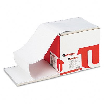 Universal 15705 - 4-Part Carbonless Paper, 15lb, 9-1/2 x 11, Perforated, White, 900 Sheets