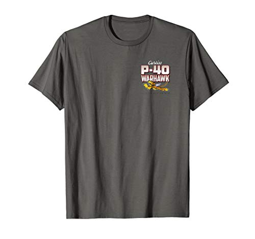 P-40 Warhawk Flying Tigers Blood Chit T-Shirt 2 Sided