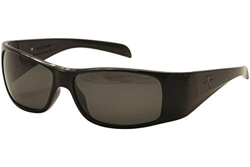 Fatheadz Eyewear Men's Power Trip V2.0 FH-V121-1SM Polarized Wrap Sunglasses, Black, 67 ()