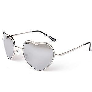 Heartisan Personality Heart Shaped Rimmed Frame Anti-UV Sweet Sunglasses C4