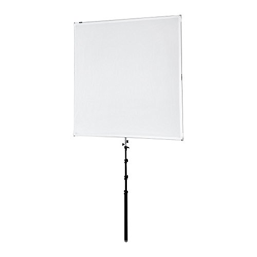 (Pro Studio Solutions 145cm x 145cm (57in x 57in) Boom Sun Scrim - Collapsible Frame Diffusion & Silver/White Reflector Kit with Boom Handle and Carry Bag )