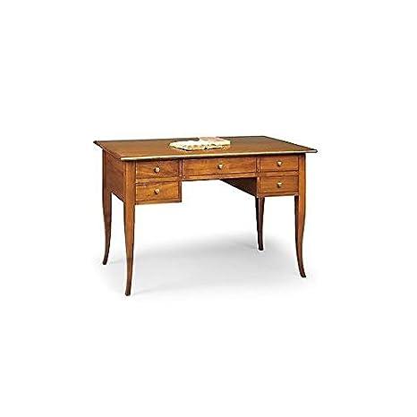 Mesa escritorio de madera, consola de 130 cm, color nogal ...
