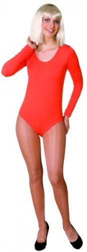 Body in verschiedenen Farben und Größen als Verkleidung / Kostümunterzieher, Farbe:orange;Größe:S/M