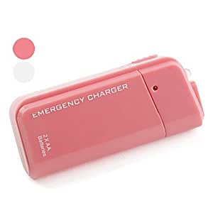 Piaopiao Portable Emergency Charger With 2 AA Batteries for iPhone and iPod , Pink