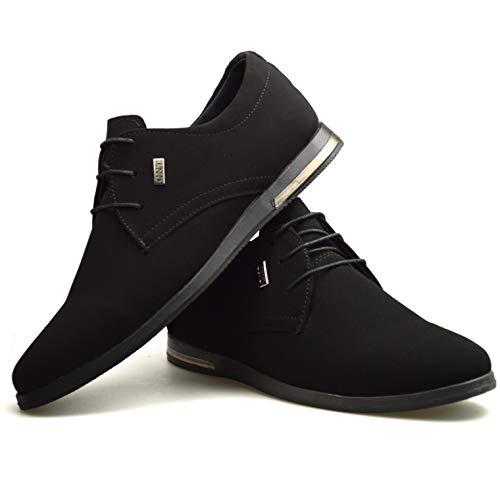 Lacets Daim À En Homme Chaussures Classydude Décontractée 3 Pour Formelle Noir Smart 4ARLc35jq