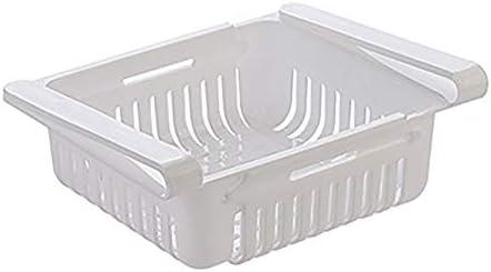 Takefuns 引き出しデザインキッチンオーガナイザー調節可能な収納棚冷蔵庫冷凍庫棚