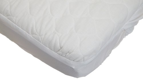 American Baby Company Waterproof Quilted Cotton Bassinet Size Fitted Mattress Pad Cover, White by American Baby Company (Image #1)