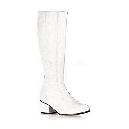 2 Inch Platform White Leather - Funtasma Women's Gogo/W Knee-High Boot,White Patent,7 M US