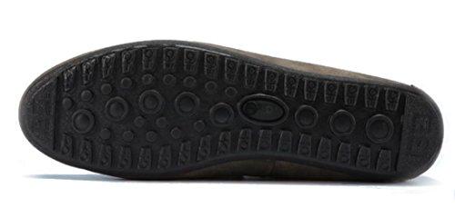 Ppxid Mens Styling In Camoscio Scarpe Casual Slip On Mocassini Neri