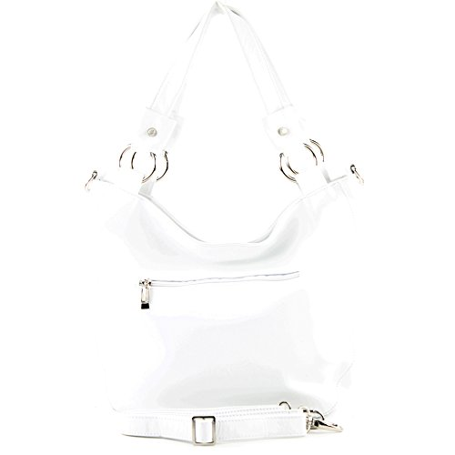 modamoda de - Made in Italy, Borsa a spalla donna bianco bianco