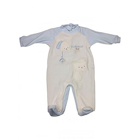 Mono Pelele chenilla niño bebé Pastel Crema Cielo - 1 - 3 meses ...