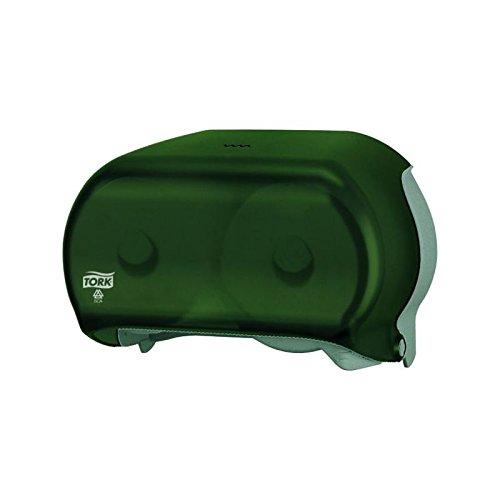 (SCA Tork Double Roll Bath Tissue Dispenser, Smoke, 1 Each)