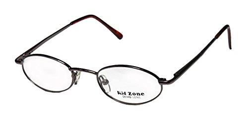 kid-zone-412-unisex-boys-girls-kids-oval-full-rim-eyeglasses-glasses-44-18-125-brown