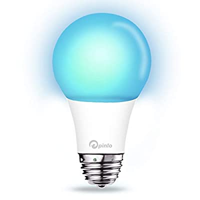 Smart Bulb,Wi-Fi Smart Led Light Bulb (100W Equivalent) Compatible Amazon Alexa Google Home,App&Voice Controlled Party Bulbs Color Changing Dimmable Night Light Wake Up Lights(e26/e27)