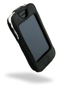 Sydney Black Leather - Sydney Harbour Genuine Black Fitted Leather Case Cover W/swivel Clip for Apple Iphone 3G 3GS
