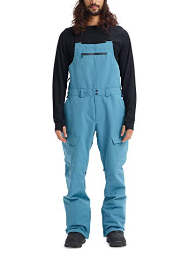 Burton Men's Reserve Bib Pant, Storm Blue, Small (Snowboard Men Blue Pants)