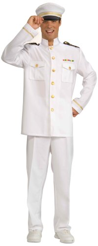 Captain Uniform (Forum Novelties Men's Cruise Captain Costume, White/Blue, Standard)