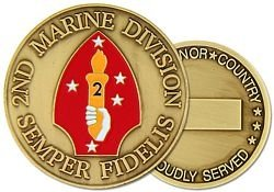 U.S. Marine Corps 2nd Division Challenge Coin