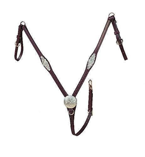 Tory Silver Concho Straight Breast Collar Horse Lo ()