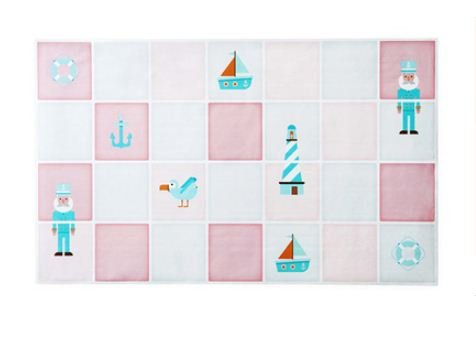 TBOP Home Smoke Proof high Temperature Oil Proof Wallpaper Waterproof Stickers Adventure Captain Size 74 * 45cm in Pink and Blue Color