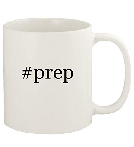 #prep - 11oz Hashtag Ceramic White Coffee Mug Cup, White (Best Prep For Colonoscopy 2019)