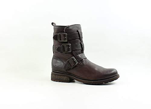 FRYE Women's Valerie Sherling Strappy Ankle Boot, Dark Brown, 7.5 M US