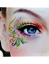 3Pairs(6PCS) Different Models Colorful Temporary Transfer Eyeshadow Eyeliner Canthus Stickers With Self-Adhesive for Show And Halloween Party(1# /9# /13#) ()