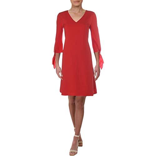 Lafayette 148 New York Womens Kenna 3/4 Sleeves Knee-Length Party Dress Orange M from Lafayette 148