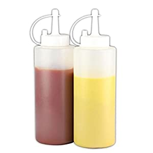 Tods thailand free shipping 2 Pcs. Squeeze Bottles with Cap Clear 24 oz Our products have a Certificate it safe.
