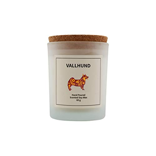 Vana Candles Classic Collection Vallhund Scented 100% Soy Wax Candle in Glass Jar Swedish Design - 2.12 oz, Cedar Wood and Lavender