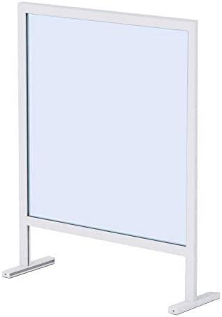 Mampara Protector Mostrador Metacrilato Portátil, Aluminio Blanco y Negro, 92,5x72,5 cm: Amazon.es: Bricolaje y herramientas
