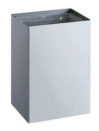 - Bobrick 275 304 Stainless Steel Surface Mounted Waste Receptacle, Satin Finish, 20 gallon Capacity, 16-1/2