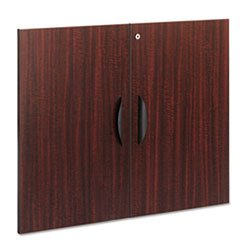 Mahogany Wide Bookcase ((6 Pack Value Bundle) ALEVA632832MY Valencia Series Cabinet Door Kit For All Bookcases, 31-1/4
