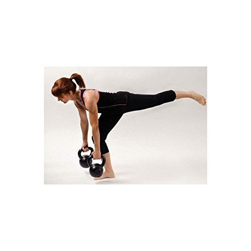 LiveUP Sports - Kettlebell 16kg Hierro Goma Pesos Manija Cromo Fitness Crossfit Training: Amazon.es: Deportes y aire libre