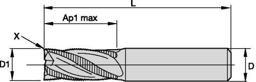 RH Cut Carbide 0.04 Chamfer TiCN Coating 3-Flute 0.04 Chamfer 0.75 Cutting Dia WIDIA Products Group 2843025 Weldon Shank WIDIA Hanita TC4A0R19007 4A0R HP Aluminum End Mill 0.75 Cutting Dia