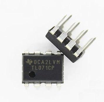 20pcs Tl071 TL071CP DIP-8 bajo nivel de ruido jfet entrada nuevos amplificadores operacionales IC