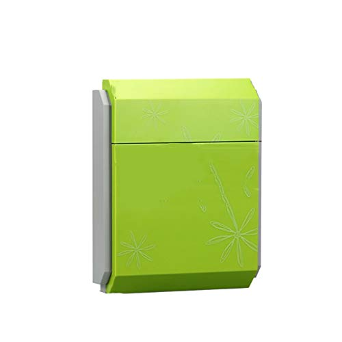 Hjhnnhui Lockable Mailbox Post Letter Newspaper Box Wall Mounted (Color : Green)